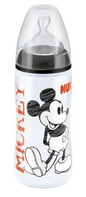 1 db NUK PP First Choice cumisüveg Disney Mickey Mouse 300 ml + Ajándék