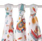 3 db minőségi mintás textilpelenka