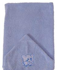 Elefántos hímzett babakifogó 75×120 cm kék