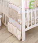 MamaKiddies Baby Bear zsebes tároló bézs macis mintával