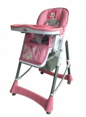 MamaKiddies ProComfort rózsaszín angyalkás multifunkciós etetőszék + Ajándék