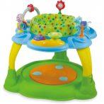 Baby Mix 2az1-ben bébikomp és játszóasztal zöld-kék színben