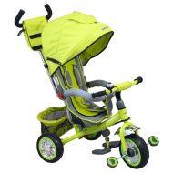 Baby Mix Prémium tricikli zöld színben tolókarral és lábtartóval