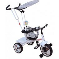 Baby Mix Trike prémium tricikli tolókarral és lábtartóval fehér színben