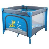 Baby Mix utazó járóka kék színben lovas mintával