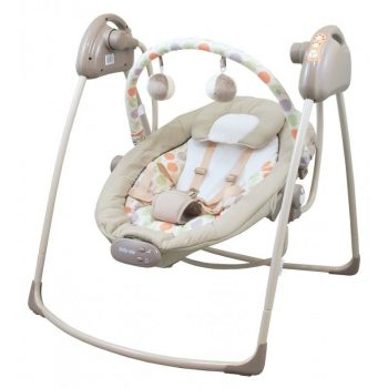Baby Mix hordozható rezgő és zenélő elektromos hinta - bézs