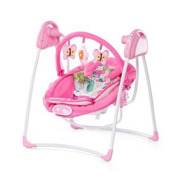 Chipolino Paradise 2in1 elektromos hinta és pihenőszék - Pink