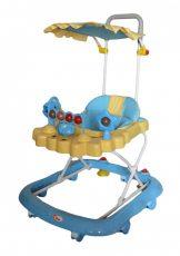 MamaKiddies kék full extrás bébikomp tolókarral és napvédővel