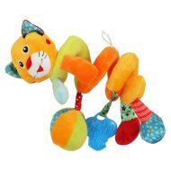 Tigrises spirál fejlesztő játék babakocsira / babahordozóra