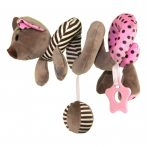 Pink egeres spirál fejlesztő játék babakocsira / babahordozóra