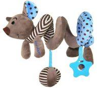 Kék egeres spirál fejlesztő játék babakocsira / babahordozóra