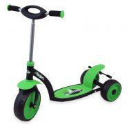 Háromkerekű roller zöld színben
