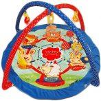 Baby Mix kék szélű kerek állatkás játszószőnyeg