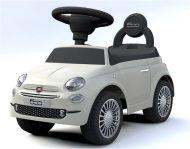 Baby Mix FIAT 500 lábbal hajtható autó fehér színben