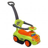 Baby Mix zenélő bébitaxi tolókarral zöld-narancs színben