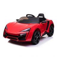 Piros elektromos sportautó távirányítóval