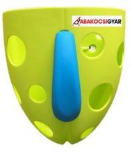 Fürdetőjáték tartó zöld színben