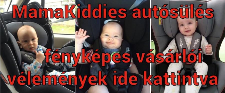 MamaKiddies autósülés fényképes vásárlói vélemények