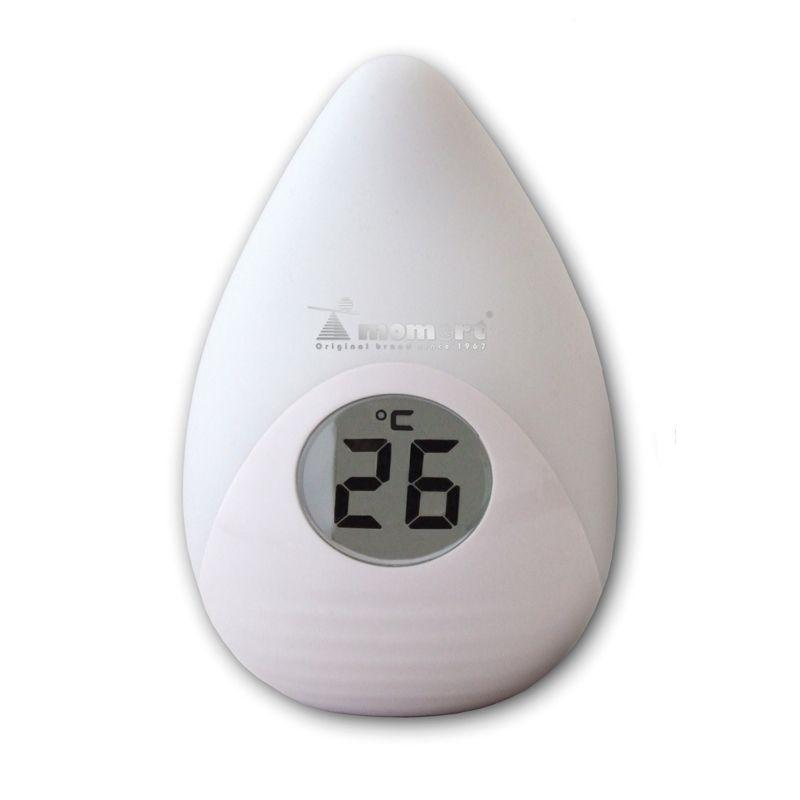 Momert digitális színváltós éjszakai fény és szobahőmérő LCD kijelzővel