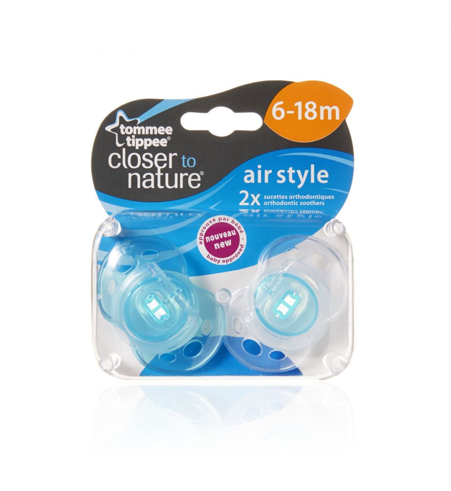 2 db BPA-mentes 6-18hó Tommee Tippee Air játszócumi