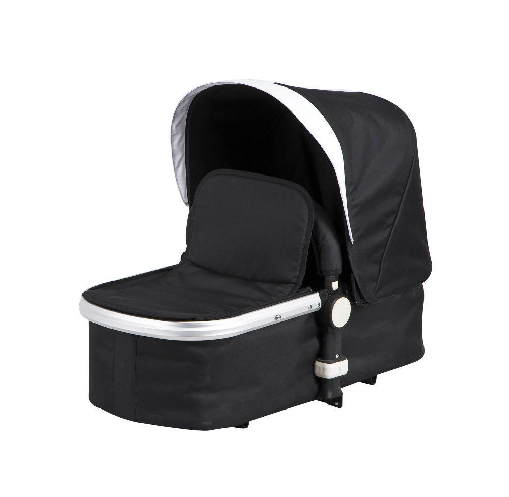 MamaKiddies Prémium Baby 3 az 1-ben babakocsi  kiegészítőkkel fekete-fehér színben + Ajándék