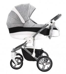 Bebetto Murano 3in1 Full Extra bőrrel szürke-fekete-fehér színben + Kiegészítők + Ajándék