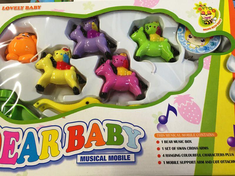 Forgó zenélő csögős játék kiságyra - nagy méretű díszdobozos csomagolásban