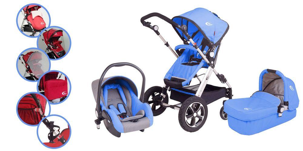 Mama Kiddies I Bill. 3az1-ben babakocsi kék színben