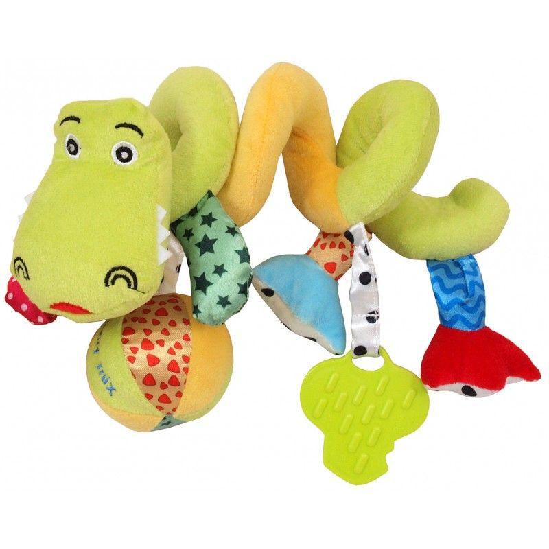 Krokodilos spirál fejlesztő játék babakocsira / babahordozóra
