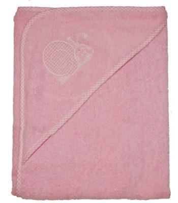Csigás hímzett babakifogó 80×80 cm rózsaszín