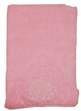 Csigás hímzett babakifogó 75×120 cm rózsaszín