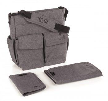Jané pelenkázó táska kiegészítőkkel - Jet Black színben