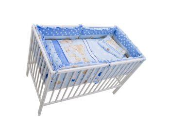 MamaKiddies Sofie Dreams 5 részes ágynemű 360°-os rácsvédővel kék színben