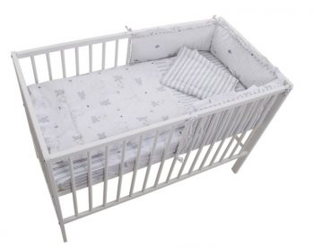 Mama Kiddies Sofie Dreams 4 részes babaágynemű 180°-os rácsvédővel nyuszis mintával