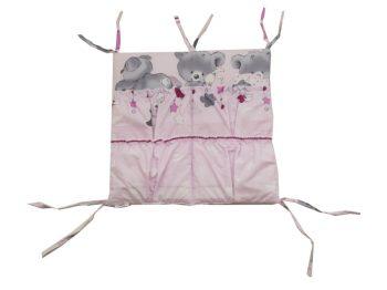 Mama Kiddies Sofie Dreams zsebes tároló macis mintával pink színben
