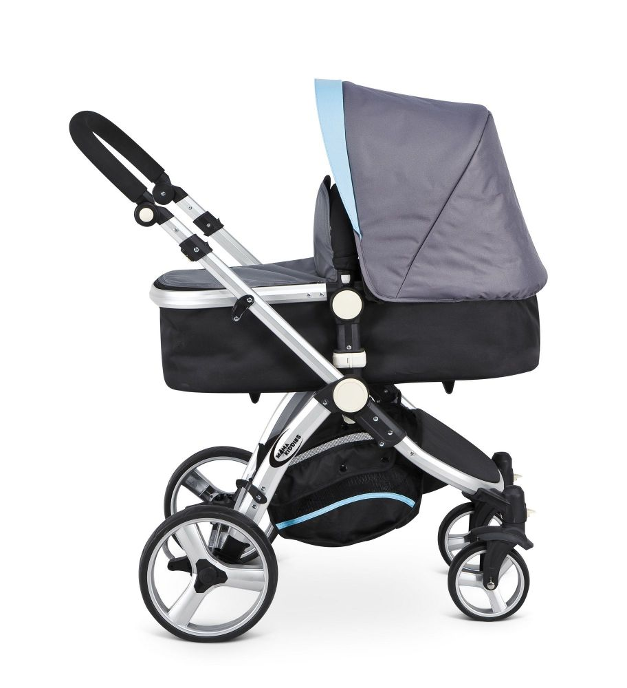 MamaKiddies Prémium Baby 3 az 1-ben babakocsi kiegészítőkkel szürke-kék  színben + Ajándék e4b358690c