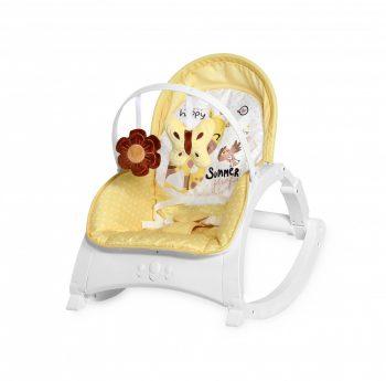 Lorelli Enjoy rezgő-zenélő pihenőszék - Yellow Giraffe