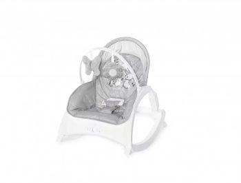 Lorelli Enjoy rezgő-zenélő pihenőszék - grey rabbits
