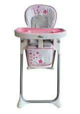 Mama Kiddies ProComfort NewLine rózsaszín, csillag mintás multifunkciós etetőszék + Ajándék