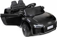 Audi R8 Spyder fekete elektromos sportautó távirányítóval dupla akkumulátorral