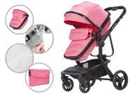 MamaKiddies Moon Pink: 2az1-ben babakocsi kiegészítőkkel pink színben