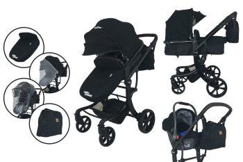 Mama Kiddies Sun Black Galaxy 3az1-ben babakocsi kiegészítőkkel + ajándék