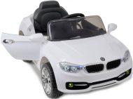 Fehér limited edition elektromos sportautó távirányítóval