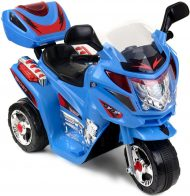 Háromkerekű elektromos sportmotor kék-fekete színben
