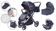 Mama Kiddies Luxury 3az1-ben multifunkciós babakocsi fekete színben + ajándék lábzsák
