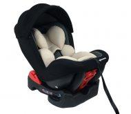 Mama Kiddies Baby Armand biztonsági autósülés (0-18 kg) bézs-szürke-fekete színben ajándék napvédővel