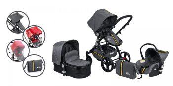 Mama Kiddies Prémium Baby Silver Sport Black Edition Kiegészítőkkel + Ajándék