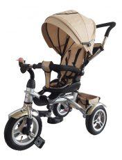 MamaKiddies AllRoad tricikli sahara bézs színben (360°-ban forgatható ülés)