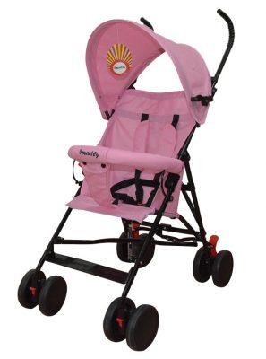 KIÁRUSÍTÁS - Smartly esernyőre csukható sport babakocsi pink színben
