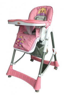 Mama Kiddies ProComfort rózsaszín víziló mintás multifunkciós etetőszék + Ajándék